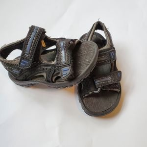 Baby Boys Coasters Sandals Black & Blue Size 5